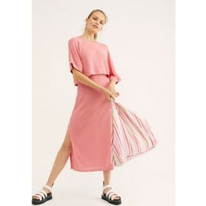 FREE PEOPLE Steph Dress Set in Prairie Rose